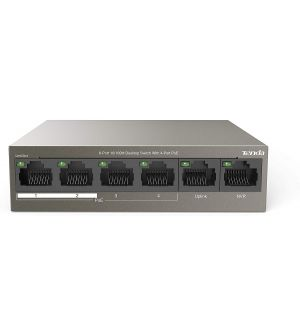 Tenda PoE Switch 6 Port (4 Port 10/100 + 2 Port 10/100 Uplink)