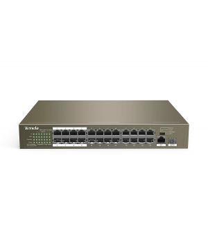Tenda PoE Switch 26 Port (24 Port 10/100+1 Port Gigabit uplink + 1 port SFP uplink)