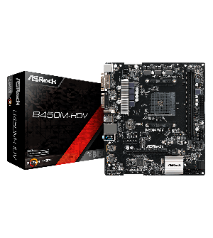 Asrock B450M-HDV Micro ATX Mother Board for AMD AM4