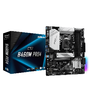 Asrock B460M Pro4 Micro ATX Mother Board for AMD AM4