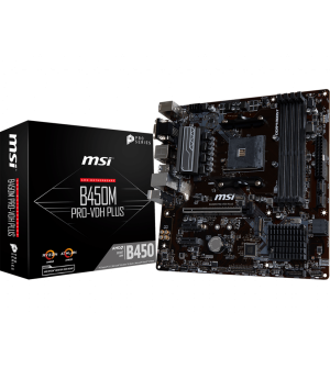 MSI B450M Pro-VDH PLUS Micro-ATX Mother Board for AMD AM4