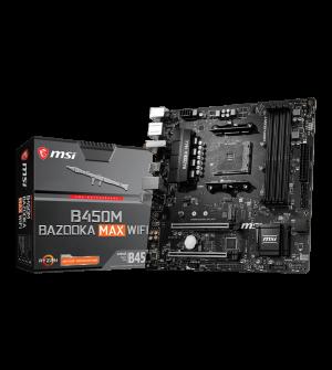 MSI B450M Bazooka Max WiFi Micro-ATX Mother Board for AMD AM4