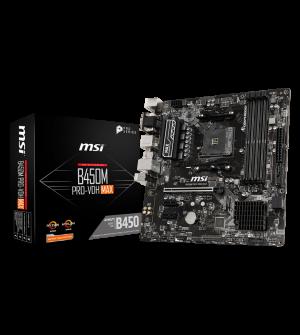 MSI B450M Pro-VDH Max Micro-ATX Mother Board for AMD AM4